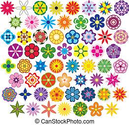 sessanta, favoloso, fiori