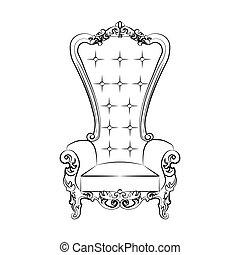 Sessel skizze  Vektoren Illustration von sessel, königlich, verzierungen ...