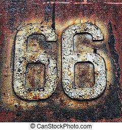 sessenta, seis, rota, sinal estrada, rodovia, viagem,...