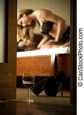 sesso, secondo, vino