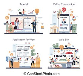set., οικονομικός σύμβουλος , ή , online , χρηματοδότης , υπηρεσία , εξέδρα