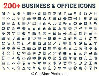 set., オフィス, 金融, ビジネス, アイコン