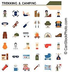 set., キャンプ, 移住, アイコン