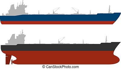 set., ベクトル, オイル, tankerss