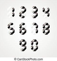 set., ベクトル, 数, イラスト