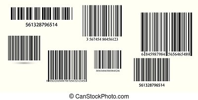 set., 矢量, 事務, barcodes