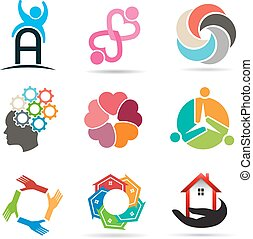 Set 1 of various types of icons for design