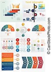 Set 10 universal templates elements Infographics conceptual...