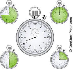 set, 15, min, intervallo, temporizzatori, cronometro