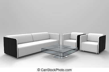 set, 2, modern meubilair