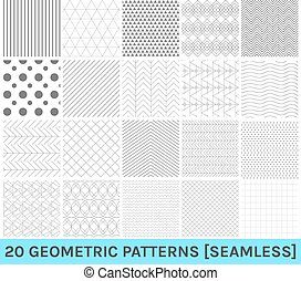 Set 20 abstract geometric pattern