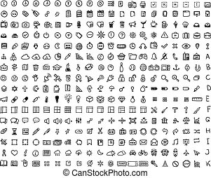 Set 320 Icon - Set of 320 hand-drawn icons. Many icons ...