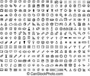 Set 320 Icon - Set of 320 hand-drawn icons. Many icons...