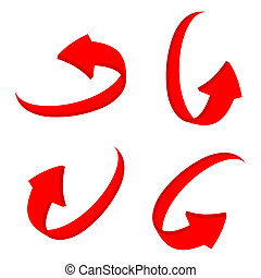 set 3D red arrow