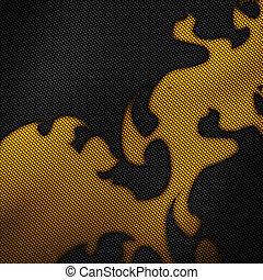 set, 9., moderne, pattern., vezel, koolstof