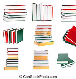Set a stack of books