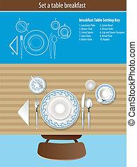 Set a table breakfast