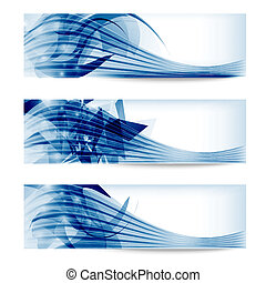 set abstract blue banner
