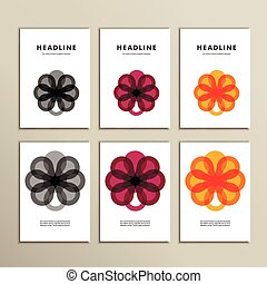 Set abstract color circle on white background