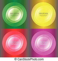 Set abstract color glow light effect