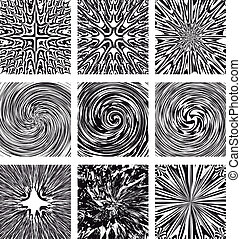 Set abstract designs