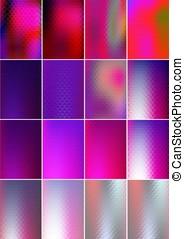 set, abstract ontwerp, kaarten, geometrisch, glanzend