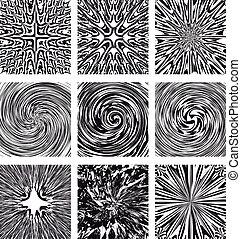 set, abstract, ontwerpen