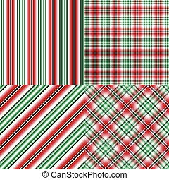 Set abstract seamless christmas patterns