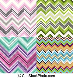Set abstract striped seamless patterns