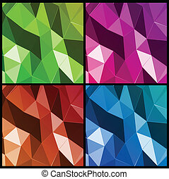 Set abstract triangle background. Vector