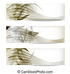 set abstract vector banner