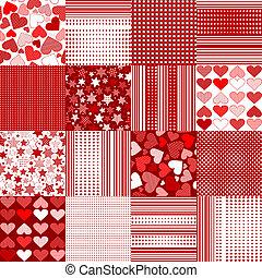 set, achtergronden, dag, valentine