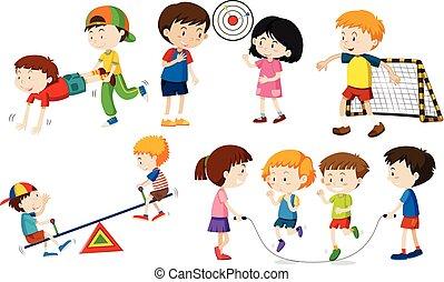 set, activites, bambini