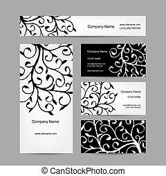 set, affari, astratto, creativo, disegno, cartelle