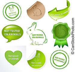 Not Tested On Animals, Isolated On White Background, Vector Illustration