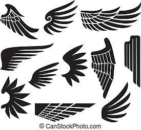 (set, ali, collezione, wings)