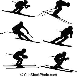 set alpine skiing