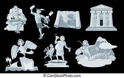 Set Ancient greek god in the present world.