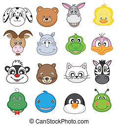set animal faces