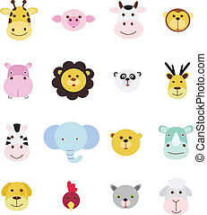 set, animale, icona
