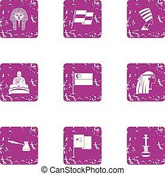 set, antecedent, stile, grunge, icone
