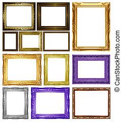 Set Antique gold frame