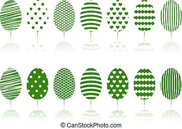 set., arbres verts