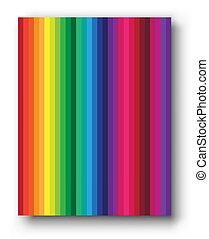 set, arcobaleno, coperchio