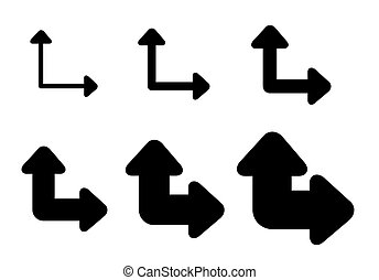 Set Arrows and directions signs path or choice.