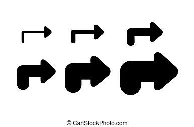 Set Arrows and directions signs right or next.