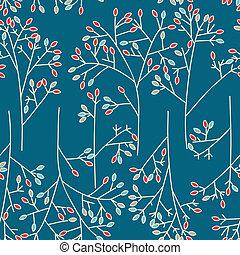 set, arte, abbozzare, albero, simboli, vettore