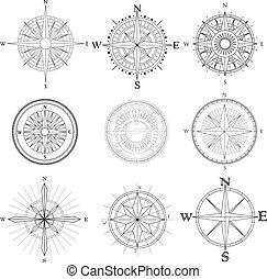 set, artistico, compass.