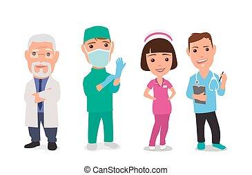 set, arts, karakter, faemale, mannelijke , pictogram