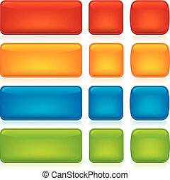 set, assortito, caramella, bottoni, colors., vuoto